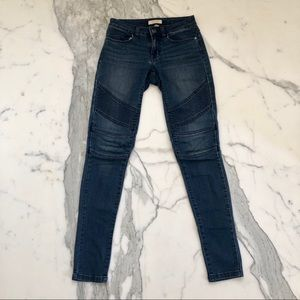 Sun & Shadow Blue Moto Jeans